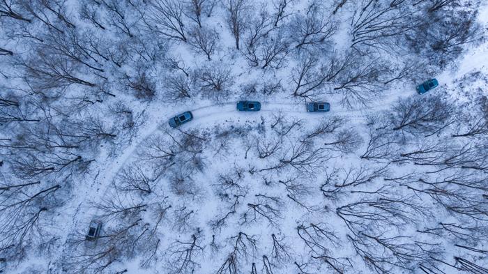 5.奧迪車隊穿越林海雪原,盡顯quattro車型在冰雪環境下的極致越野樂趣.jpg
